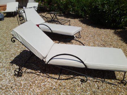 bain de soleil en fer forg sur mesure. Black Bedroom Furniture Sets. Home Design Ideas